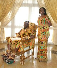 The Royal Couple - Ghana - West Africa African Culture, African American History, Ghana Culture, African Life, African Beauty, African Fashion, Sierra Leone, Black King And Queen, Black Royalty