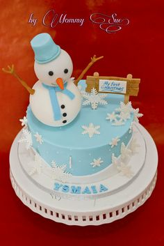 First Christmas Cake - by JASCakebyMommySue @ CakesDecor.com - cake decorating website