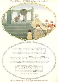 "I have utilized the beautiful 1912 art of Dutch artist Henriette Willebeek Le Mair's ""Little Songs of Long Ago"" to create these oval songs: Print out your favorites, score on the …"