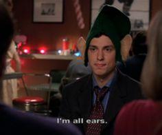 "sweets: ""I'm all ears"" -santa in the slush, season bones Fox Tv Shows, Best Tv Shows, Favorite Tv Shows, Movies And Tv Shows, Bones Tv Series, Bones Tv Show, Dr Bones, Booth And Bones, Booth And Brennan"