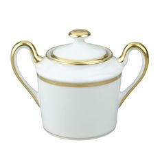 Raynaud Fontainebleau Gold with Marly Filet Sugar Bowl