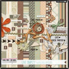 Live Simply full kit freebie from Valorie Brown Designs