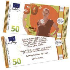 """Banknote Geldschein 50. Geburtstag """"Neuer Fünfziger"""""""