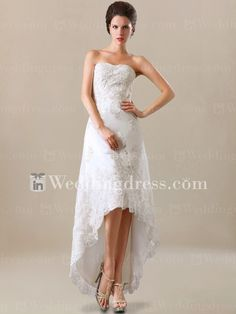 The best place to buy custom tailored high-low destination wedding dresses for your big day. Worldwide shipping!