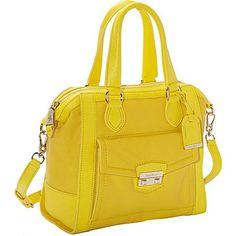 Cole Haan Zoe Small Structured Satchel Sunlight - Cole Haan Designer Handbags