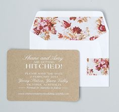 Shane & Amy's save the date | Seven Swans Wedding Stationery | image by welovepictures