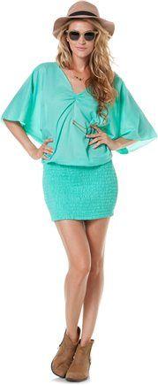 INDAH COVE BLOUSON MINI DRESS | Swell.com