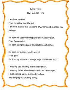 I am from poem - Hee Jae Kim