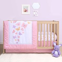 Discontinued by Manufacturer Butterfly Carters Quilted Woven Playard Fitted Sheet