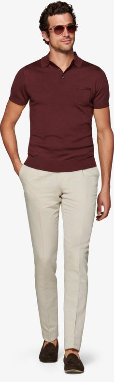 Burgunder Polo Sw1046 | Suitsupply Online Store