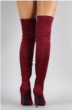 fbda4335064 Over The Knee Suede Glove Boots. Popular solid suede over the knee boots.  Fits