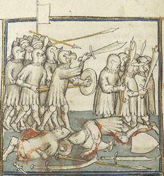 Manuscript Morgan M.516 Histoire universelle depuis la Creation jusqu'a Cesar Folio 261v Dating 1390-1399 France (exact location unknown) Holding Institution Morgan Library