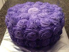 Purple Ombre' Rosette cake 2/5/15