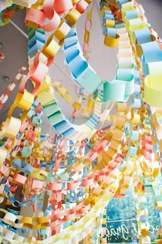 paper chain explosion...everything's cooler in mass!