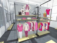 Visual Merchandising Wall Design For Clothing Brand  Portfolio