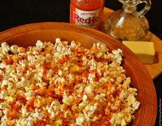 Buffalo Wing Popcorn   The Saucy Southerner #NationalPopcornDay
