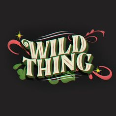 Wild Thing . . . #title #book #storytales #wildthing #jimihendrix #graphic #type #tyxca #typography #font #share #letters #myfonts #typographyinspired #typographydesign