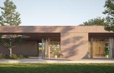 Progetto di una villa con portico e vista sul parco | MIDE 211