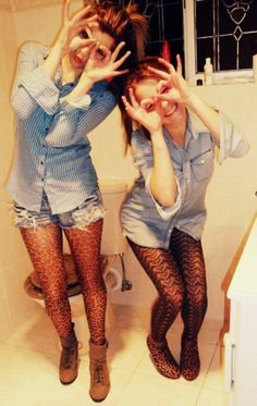 This reminds me of Lexie and me, Also and can totally see Lexie and I having twin outfits!!! <3
