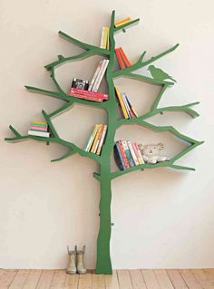 Add this whimsical bookshelf to a kid's room.