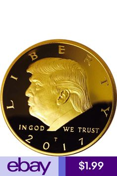 US President Donald Trump Inaugural Gold Eagle Commemorative Novelty Coin Gold Stock, Commemorative Coins, In God We Trust, Us Presidents, Coin Collecting, Gold Coins, Donald Trump, Personalized Items, Gifts