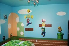 super mario brothers room decor | mario brothers bedroom decor | design with super mario bros ... | like