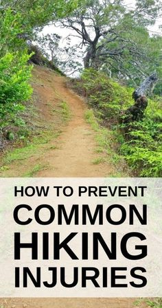 How to prevent common hiking injuries. Hiking tips for beginners ideas including knee pain with causes from walking hills. Training, preparation can help to prevent a hiking injury or walking injury, including with workout exercises for strength and condi Backpacking Tips, Hiking Tips, Hiking Gear, Hiking Backpack, Hiking Boots, Hiking Checklist, Backpack Bags, Thru Hiking, Camping And Hiking