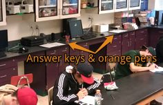 more immediate and meaningful feedback, I set up stations with the answer key and orange pens on the counter around the room. When students were finished with the quiz, they brought their quiz to a station to check their work against the key and use the orange pens to leave themselves feedback directly on the quiz. Then they handed the quiz in to me. What I like about this: students give themselves the feedback they need and I get to see what that feedback looks like.