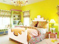 Yelllow Bedroom Interior Color, living room colors ideas, room color ideas ~ Home Design Bedroom Interior Colour, Bedroom Colors, Bedroom Decor, Bedroom Ideas, Bedroom Yellow, Bedroom Furniture, Teenage Girl Bedrooms, Girls Bedroom, Funky Bedroom
