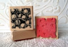 Lily of the Valley flower rubber stamp from oldislandstamps
