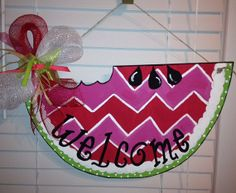Sweet Summertime Watermelon Door Hanger by PaisleyPeacockDes, $25.00