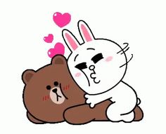 The perfect Brown Cony Cuddle Animated GIF for your conversation. Cute Couple Cartoon, Cute Love Cartoons, Image Clipart, Art Clipart, Gif Mignon, Gif Bonito, Gif Lindos, Cony Brown, Brown Bear