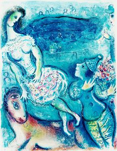 "Prints by Marc Chagall Circus | MARC CHAGALL, From: ""Le Cirque"". Lithograph in colours, 1967, on .."