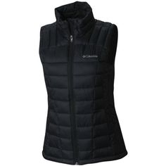Columbia Black Womens Rapid Excursion Thermal Coil174 Vest - Women's ($90) ❤ liked on Polyvore featuring activewear, black and columbia
