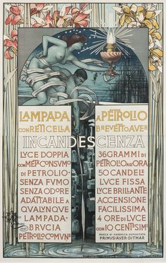 Lampada A Petrolio by Mataloni, Giovanni | Vintage Posters at International Poster Gallery