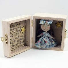 Worry Doll in a Wooden Box