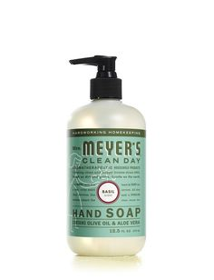 Basil Hand Soap by Mrs. Meyer's Clean Day