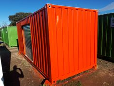 Topshell customized this storage container for a client.   For custom storage solutions, contact Topshell Containers, South Africa.   #storage #storagecontainer #storageunit