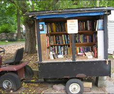 Example of trailer-based mobile library.