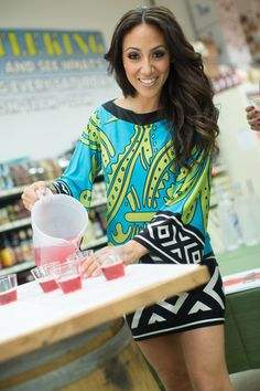 Cheers! New Jersey Housewife Melissa Gorga pours shots of Voli Light Vodka