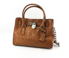 Great for the Work place. Very classy! Michael Kors Hamilton Mocha Satchel. Only $190