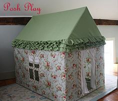 Another adorable fabric playhouse.