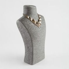 This necklace stand is textured with grey rattan. It, and it's matching bracelet stands, are available with fast delivery from The Display Centre. Jewellery Displays, Necklace Display, Jewelry Stand, Rattan, Elegant, Medium, Grey, Wicker, Classy