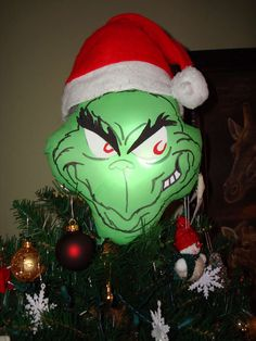 grinch tree topper! For mama!