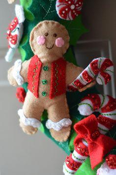 Christmas Candy Wreath - NEEDLEWORK