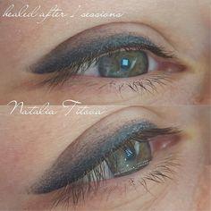 Зажившие глазки ,растушевка , после одной процедуры #татуаж #брови #натальятитова