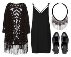 """""""all black"""" by megan-garner ❤ liked on Polyvore featuring Zara, Topshop and ASOS"""