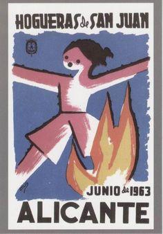 Cartel de Hogueras del año 1963 Alicante