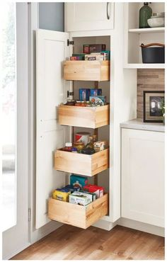 A tall pantry with deep drawers makes achieving a well-organized kitchen a breez Small Kitchen Remodel achieving breez deep Drawers Kitchen pantry tall wellorganized Diy Kitchen Cabinets, Kitchen Cabinet Organization, Kitchen Redo, Storage Cabinets, New Kitchen, Kitchen And Bath, Organization Ideas, Storage Ideas, Cabinet Ideas