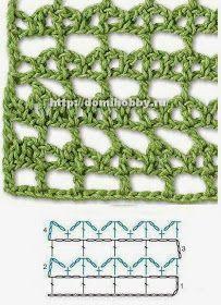 TODO PATRONES CROCHET GRATIS PASO A PASO ESQUEMA Y GRAFICOS: 150 PUNTOS FANTASÍA EN CROCHET CON GRÁFICOS PATRONES GRATIS Crochet Edging Patterns, Crochet Motifs, Crochet Diagram, Tunisian Crochet, Stitch Patterns, Knitting Patterns, Crotchet Stitches, Crochet Needles, Crochet Coat